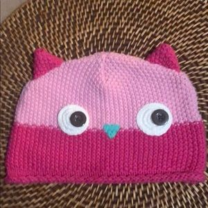 Babies R Us Pink Knitted Kitty Hat